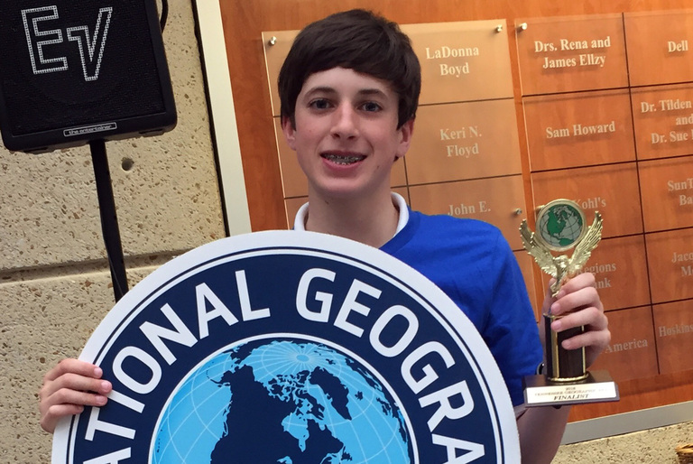 Dual Bee Champ McDaniel Sixth at State Geo Bee