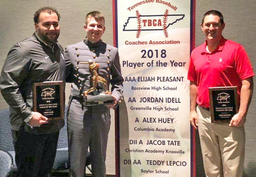 Lepcio, Elie, Kinney Recognized by Tennessee Baseball Coaches Association