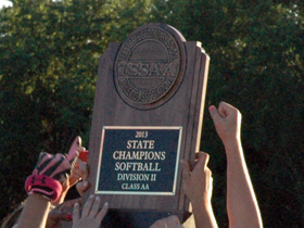 Softball State Champions trophy