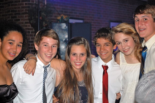Students at a formal dance